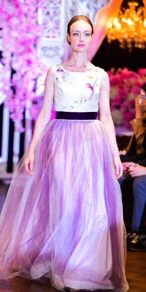 Hand painted gown from Zahra Batool Couture fashion show